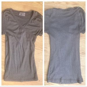 Michael Stars Cross Front Shine Top OS (fits XS)